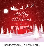 vector illustration of santa... | Shutterstock .eps vector #542424283