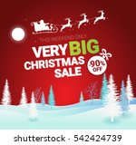 big christmas sale. vector... | Shutterstock .eps vector #542424739