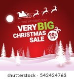 big christmas sale. vector... | Shutterstock .eps vector #542424763