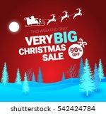 big christmas sale. vector... | Shutterstock .eps vector #542424784