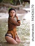beautiful indonesian girl...   Shutterstock . vector #542426170