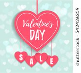 valentine's day sale offer ... | Shutterstock .eps vector #542426359