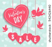 valentine's day sale offer ... | Shutterstock .eps vector #542426440
