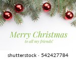 background with christmas... | Shutterstock . vector #542427784