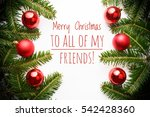 background with christmas... | Shutterstock . vector #542428360