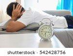 retro alarm clock with a man...   Shutterstock . vector #542428756