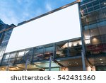blank billboard on the building.... | Shutterstock . vector #542431360