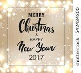 merry christmas   happy new... | Shutterstock . vector #542434300