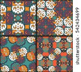 abstract patchwork pattern.... | Shutterstock . vector #542434699