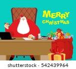 Merry Christmas. Santa Claus A...