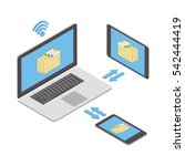 wireless technologies. the... | Shutterstock .eps vector #542444419