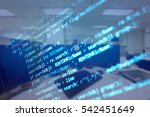 software developer programming... | Shutterstock . vector #542451649