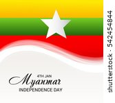 vector illustration of myanmar...   Shutterstock .eps vector #542454844