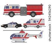 various emergency vehicles.... | Shutterstock .eps vector #542456290