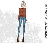 high trendy color look | Shutterstock .eps vector #542457940