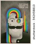 conceptual vintage illustration ... | Shutterstock .eps vector #542458813