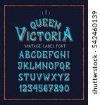 font queen victoria. | Shutterstock .eps vector #542460139