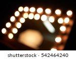 lighting blur in dressing room | Shutterstock . vector #542464240
