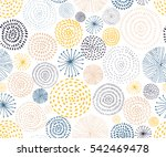 vector seamless pattern with... | Shutterstock .eps vector #542469478
