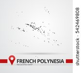french polynesia map | Shutterstock .eps vector #542469808