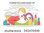 make up beauty woman concept.... | Shutterstock .eps vector #542470540