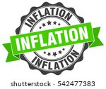 inflation. stamp. sticker. seal.... | Shutterstock .eps vector #542477383