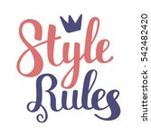 flat style crown and color... | Shutterstock .eps vector #542482420