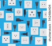 electrical outlets plugs... | Shutterstock .eps vector #542486404