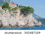 the rocks above the water and... | Shutterstock . vector #542487109