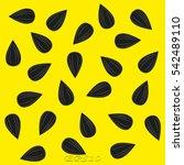 sunflower seeds  icon  vector... | Shutterstock .eps vector #542489110