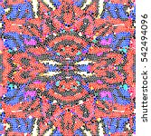 mosaic colorful pattern for...   Shutterstock . vector #542494096