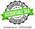 accountable talk. stamp.... | Shutterstock .eps vector #542510698