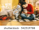 young father and mother playing ... | Shutterstock . vector #542519788