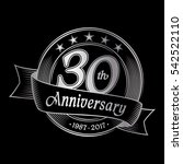 30th anniversary design... | Shutterstock .eps vector #542522110