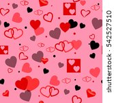 heart love seamless pattern... | Shutterstock . vector #542527510