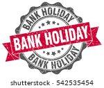 bank holiday. stamp. sticker.... | Shutterstock .eps vector #542535454