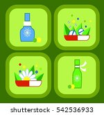 medical  on the colored... | Shutterstock .eps vector #542536933