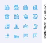 buildings icons | Shutterstock .eps vector #542538664