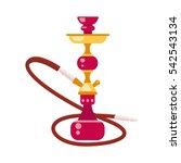 smoke hookah flat vector... | Shutterstock .eps vector #542543134