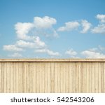wooden fence sky clouds | Shutterstock . vector #542543206