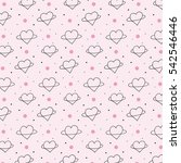 abstract planet heart vector... | Shutterstock .eps vector #542546446
