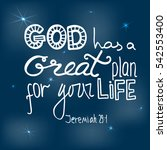 god has a great plan for your... | Shutterstock .eps vector #542553400