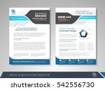blue annual report brochure... | Shutterstock .eps vector #542556730
