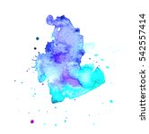 colorful abstract watercolor... | Shutterstock .eps vector #542557414