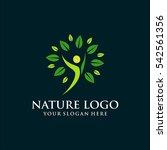 nature template logo design.... | Shutterstock .eps vector #542561356