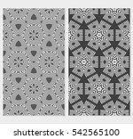 set of modern floral pattern.... | Shutterstock .eps vector #542565100