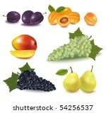 super big group of fruit. photo ... | Shutterstock .eps vector #54256537