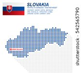 dot style of slovakia map and... | Shutterstock .eps vector #542565790