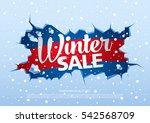 winter sale banner  vector...   Shutterstock .eps vector #542568709