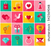 happy valentine day colorful... | Shutterstock .eps vector #542569048